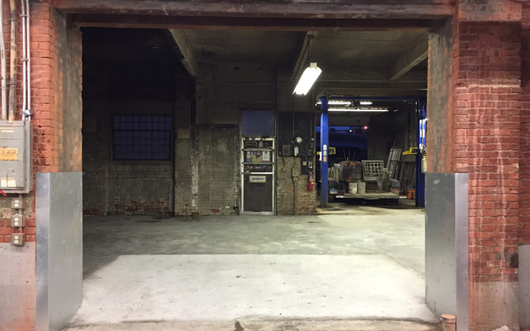 Passageway, New Floor & Overhead Door
